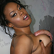 classy black beauty goes white at a dirty public glory hole from Gloryhole Initiations