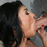 hot iranian babe sucking off a big white gloryhole cock from Gloryhole Initiations